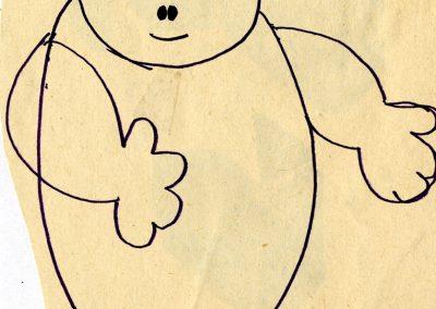 """5. F. Puntar """"Ljuljaška"""", Malo Pozorište """"Duško Radović"""", Beograd, 1978, režija-Edi Majaron, kreacija lutaka, kostimi i scenografija-Milena Jeftić Ničeva Kostić"""