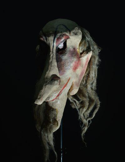 """3. V. Šekspir """"Bura"""", režija- Sabi Sabev, kreacija maski- Erika Kanjo Janovič, Dečje pozorište Subotica, 2002."""