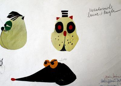 """4. Đ. Urban """"Plavi Petar"""", režija- Milivoje Radaković, kreacija lutaka- Mirjana Stojanović Maurič, Pozorište mladih, Novi Sad, 1971."""